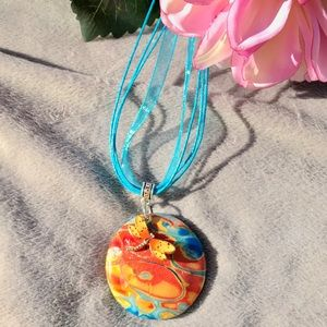 Polymer clay handmade necklace